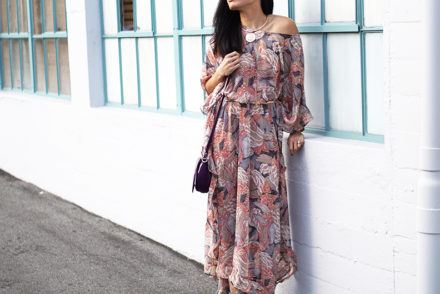 Floral & Beach Caftan Dress