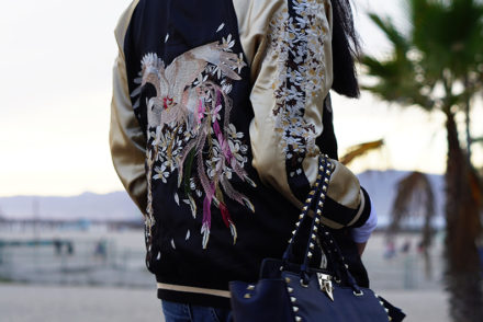Zaful Reversible Embroidered Bomber Jacket Fashion Blog