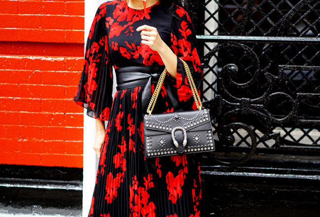 #NYFW #ad #GucciDionysus #Gucci #FloralDress #Winterfloral #FWtrend #StreetStyle #Styleinspiration #styleinspo #fashionblog