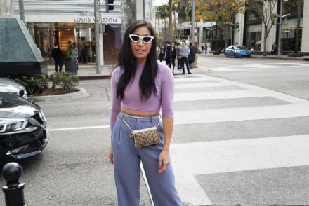 Pastel Outfit Street Style Outfit Inspiration #streetstyle #gucci #babyblue #lavender #lilac #pastel #pastelcolors #pasteltrend #pasteloutfit #fashionblogger #styleblogger #styleblog #beverlyhills #lablogger #springsummer #trends