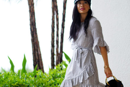 Summer Fashion with Macy's 1.State #ad #macys1State #1state #ruffledress #ruffles #summeroutfit #summerdress #linendress #stripedress #resortwear #streetstyle #beststreetstyle #wovenbag #strawbag #ropesandals #fashioninfluencer #fashionblog #styleblog #outfitideas #outfitinspo